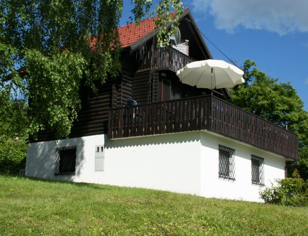 Chalet with large South facing terrace.