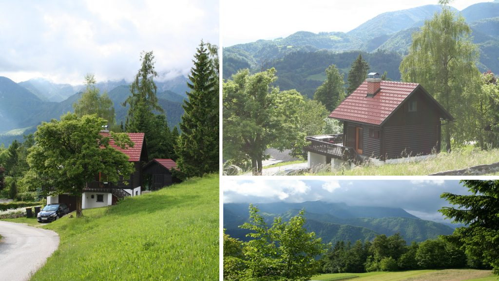 The chalet with panoramic views.
